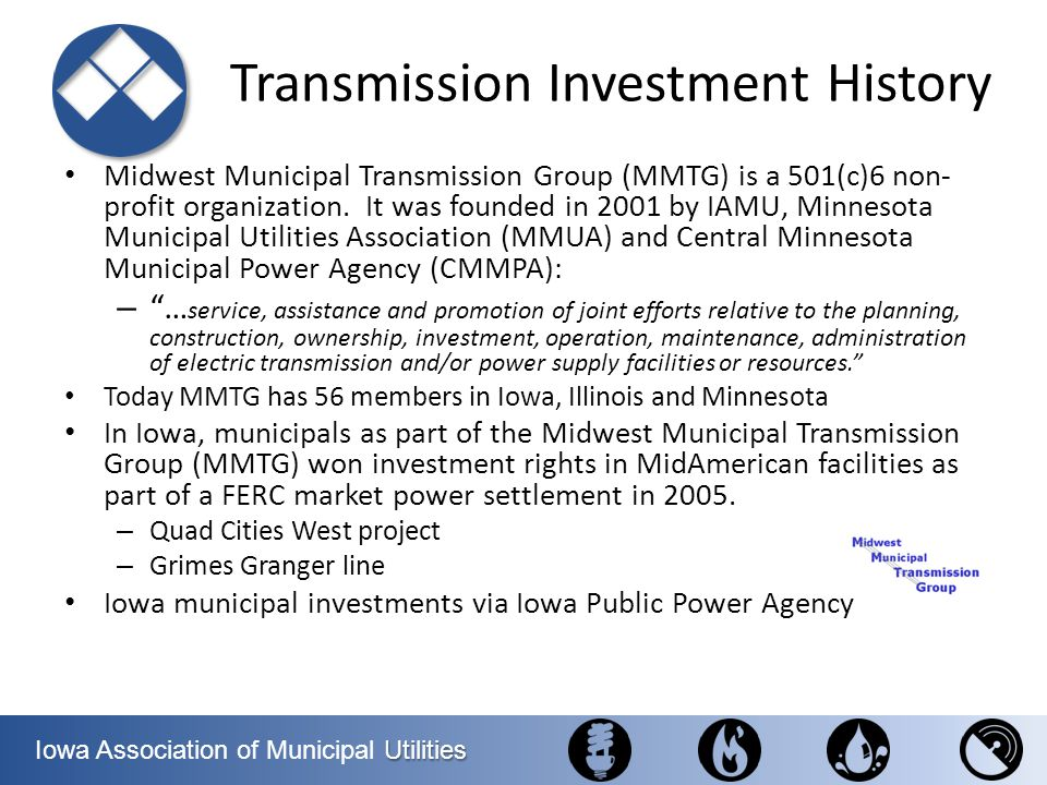 Transmission Investment History