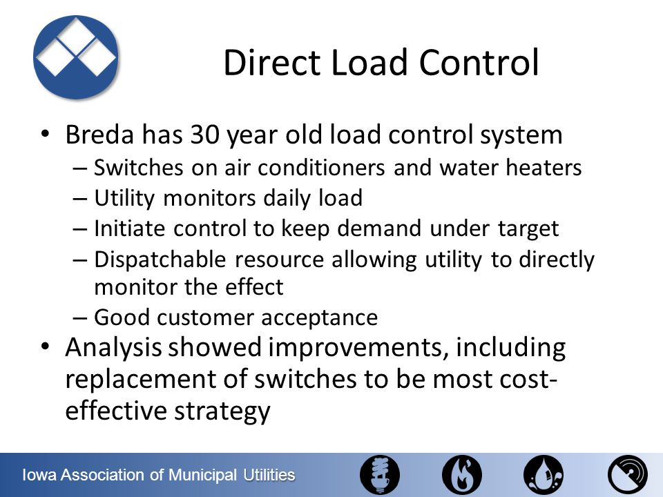 Direct Load Control Breda has 30 year old load control system