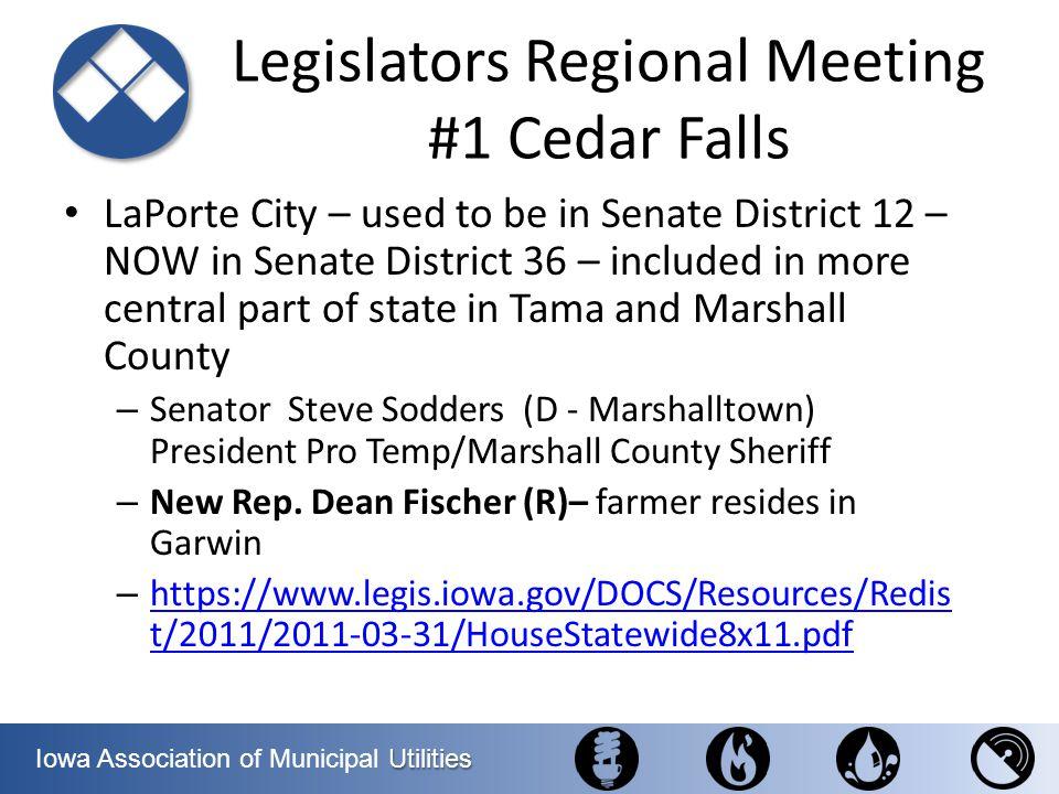Legislators Regional Meeting #1 Cedar Falls