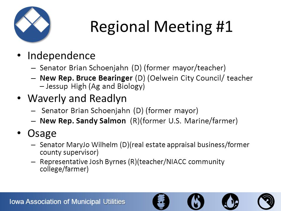 Regional Meeting #1 Independence Waverly and Readlyn Osage
