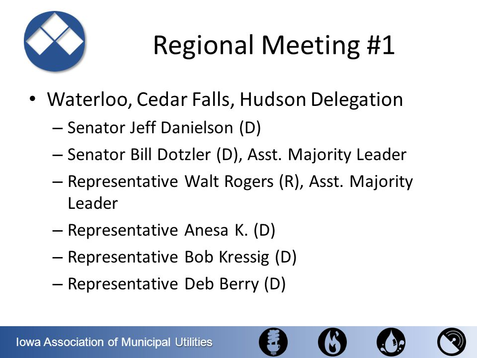 Regional Meeting #1 Waterloo, Cedar Falls, Hudson Delegation