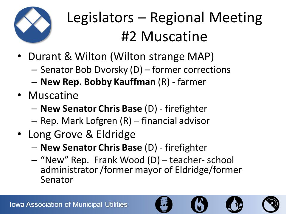 Legislators – Regional Meeting #2 Muscatine