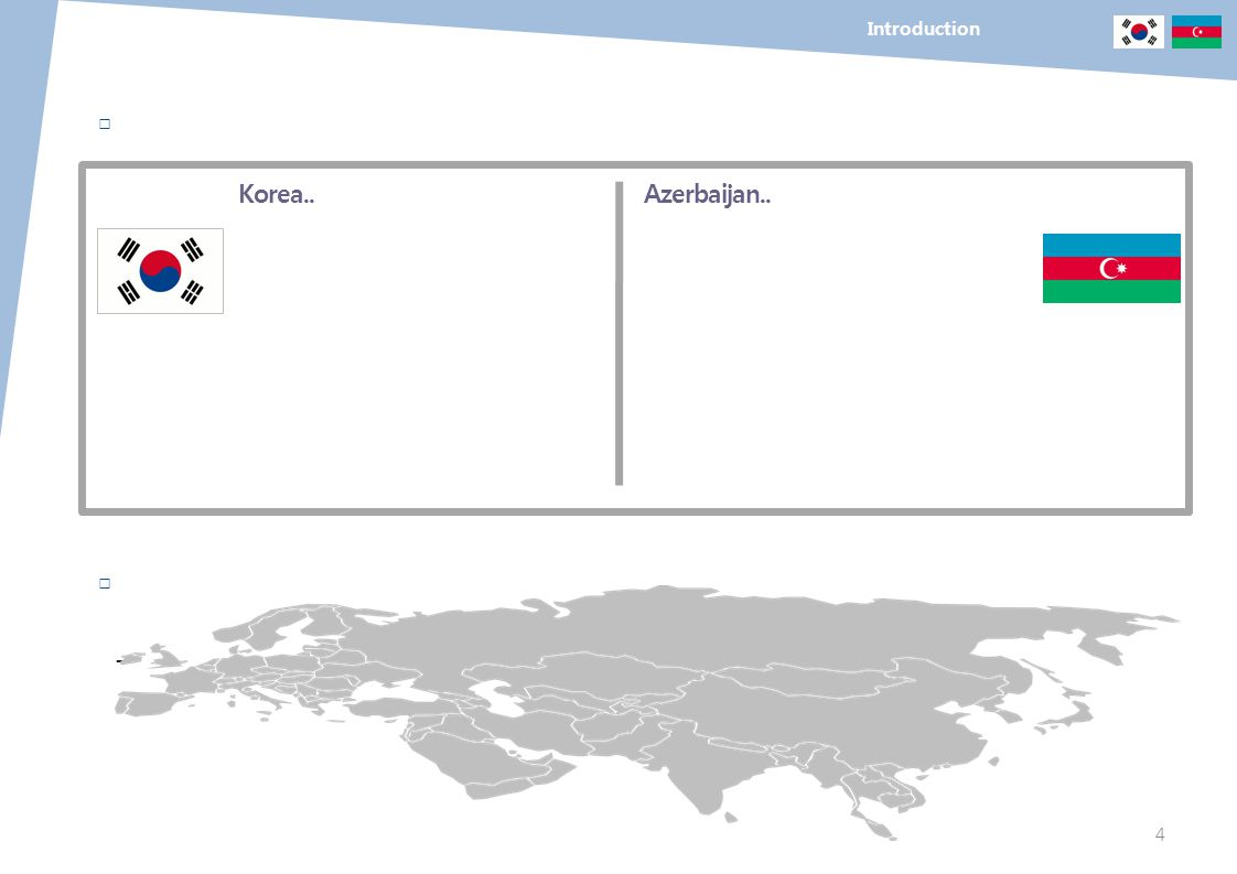 Introduction □ Korea.. Azerbaijan.. □ -
