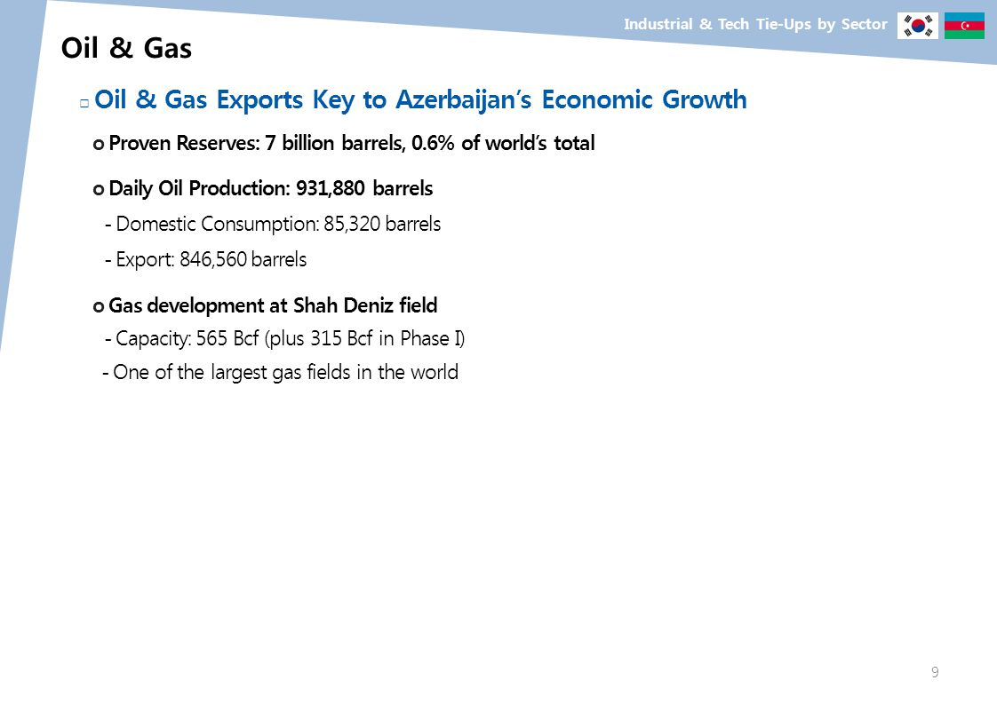 Oil & Gas □ Oil & Gas Exports Key to Azerbaijan's Economic Growth