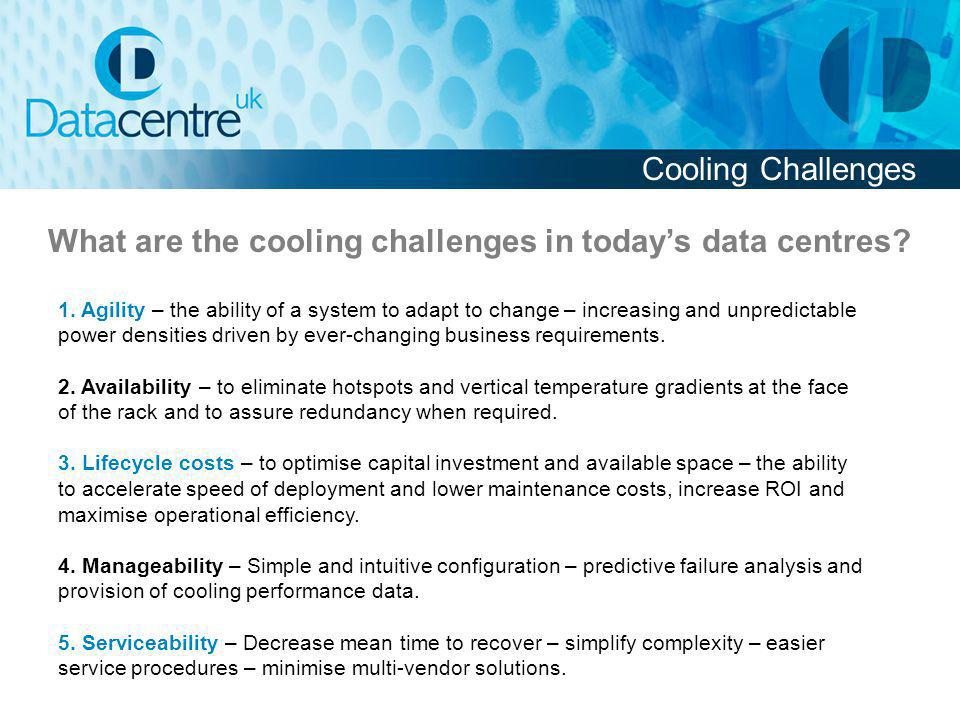 What are the cooling challenges in today's data centres
