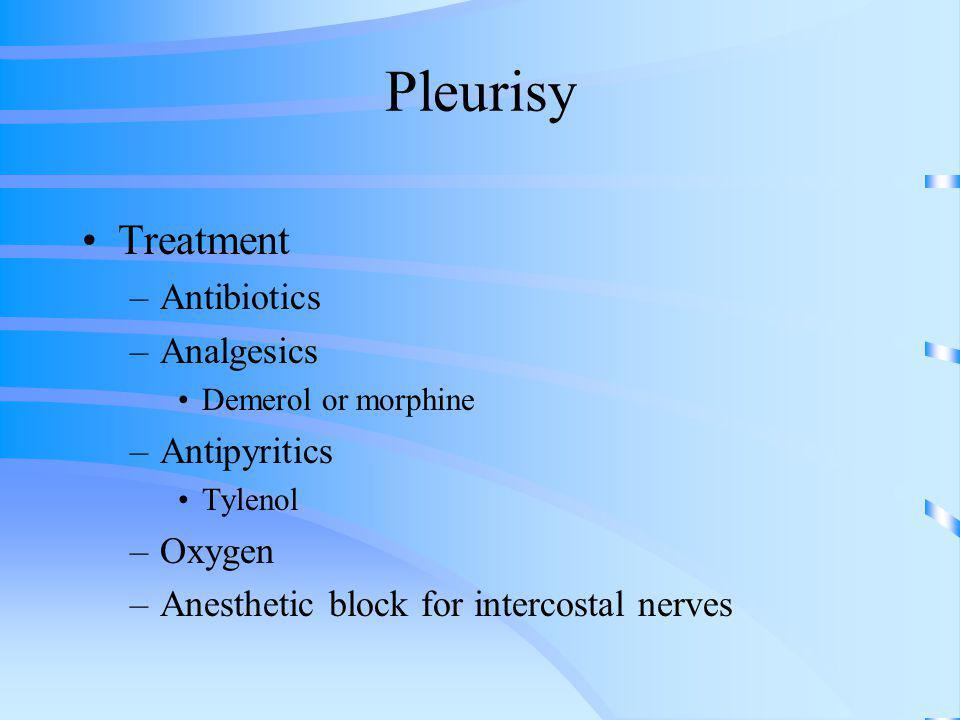 Pleurisy Treatment Antibiotics Analgesics Antipyritics Oxygen