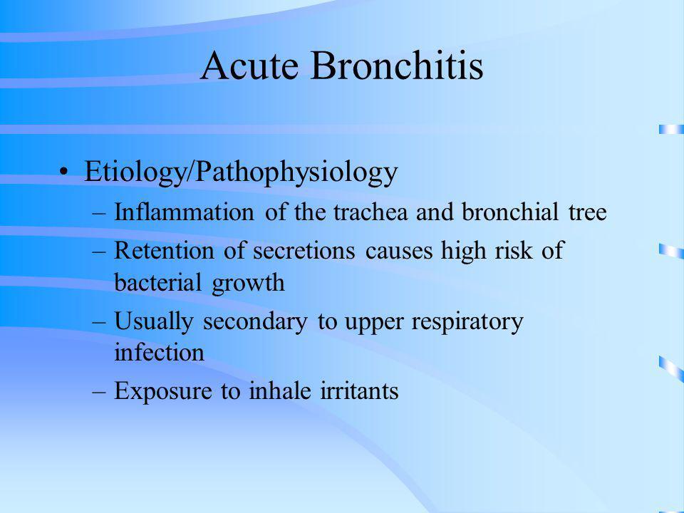 Acute Bronchitis Etiology/Pathophysiology