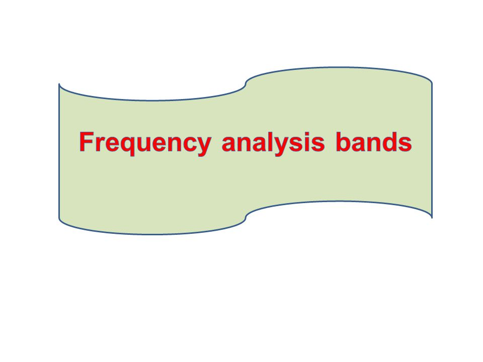Frequency analysis bands