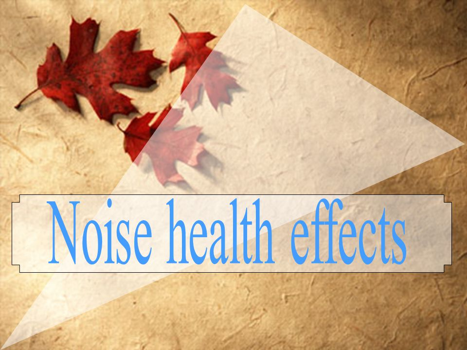 Noise health effects