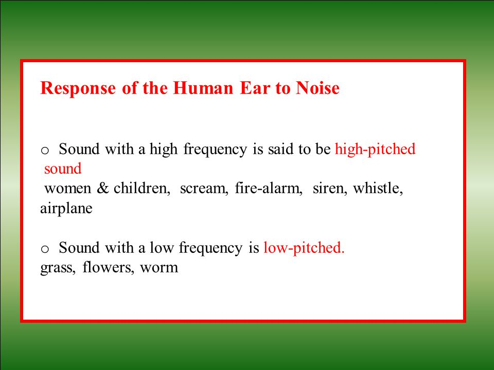 Response of the Human Ear to Noise
