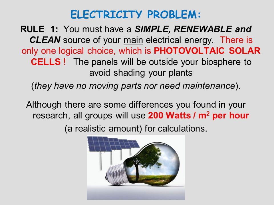 ELECTRICITY PROBLEM: