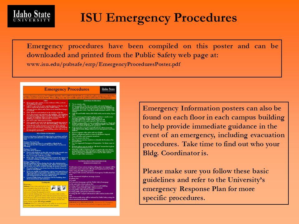 ISU Emergency Procedures