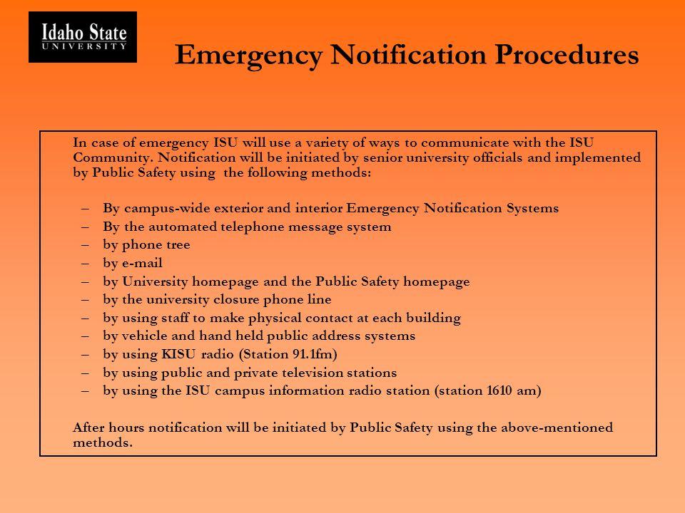 Emergency Notification Procedures