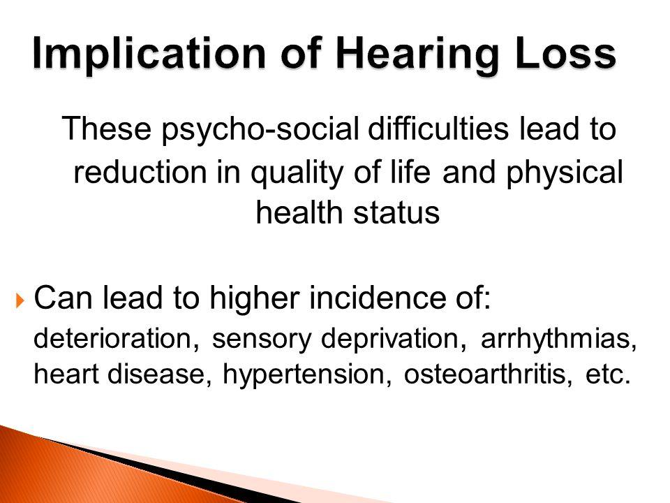 Implication of Hearing Loss