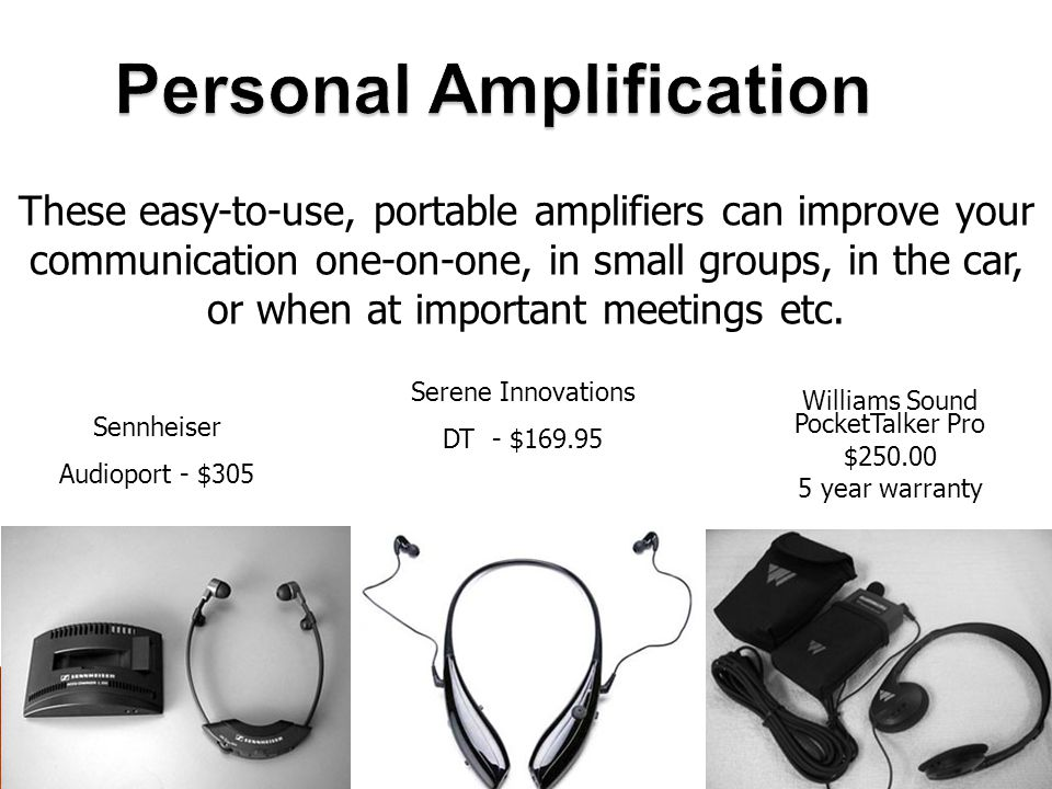 Personal Amplification