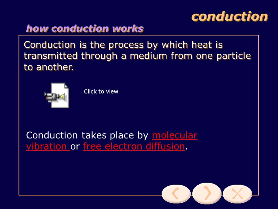 conduction how conduction works