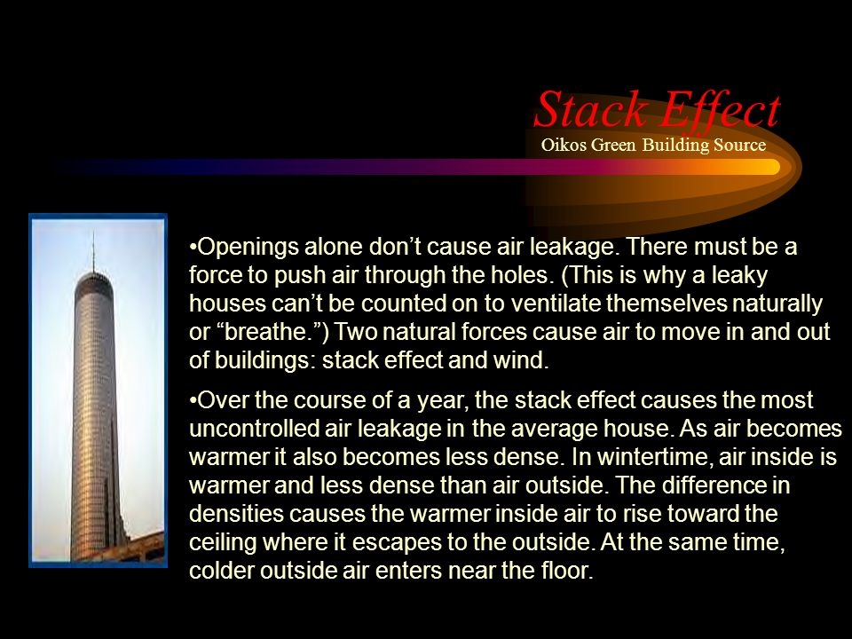 Stack Effect Oikos Green Building Source.