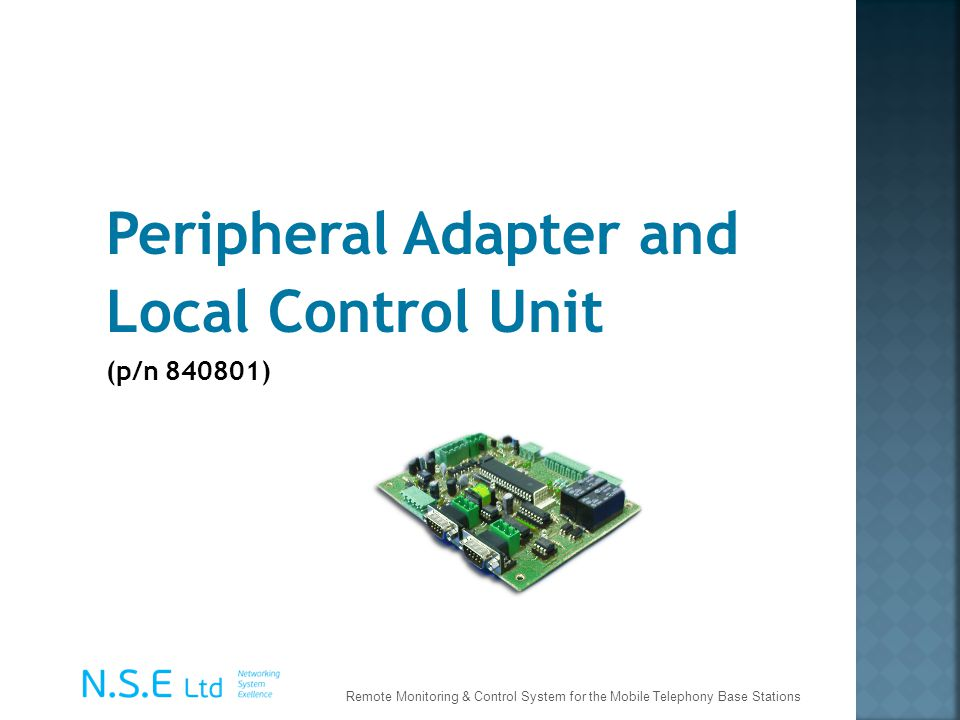 Peripheral Adapter and Local Control Unit