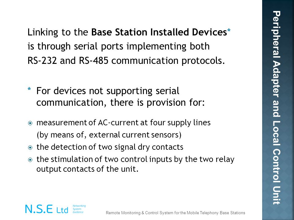 Linking to the Base Station Installed Devices*