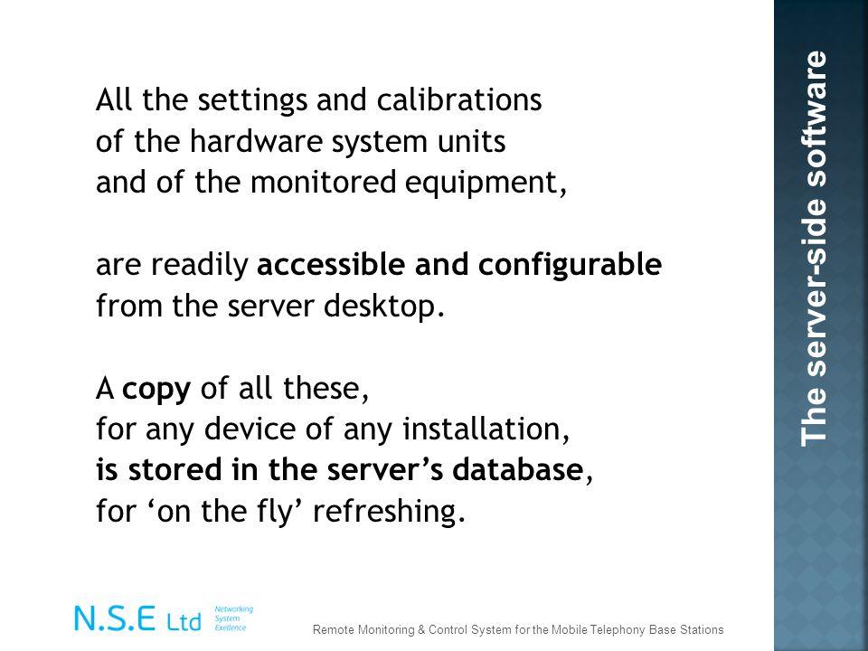 The server-side software