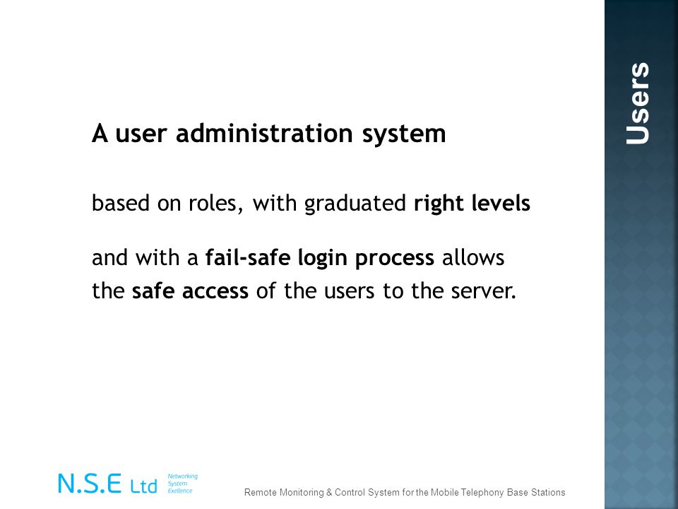 Users A user administration system