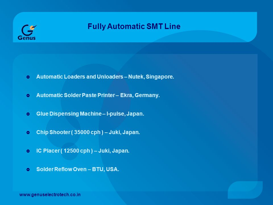 Fully Automatic SMT Line