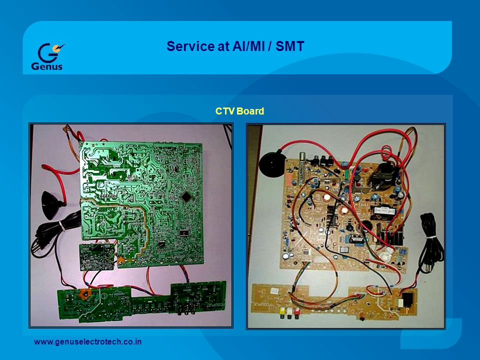 Service at AI/MI / SMT CTV Board www.genuselectrotech.co.in