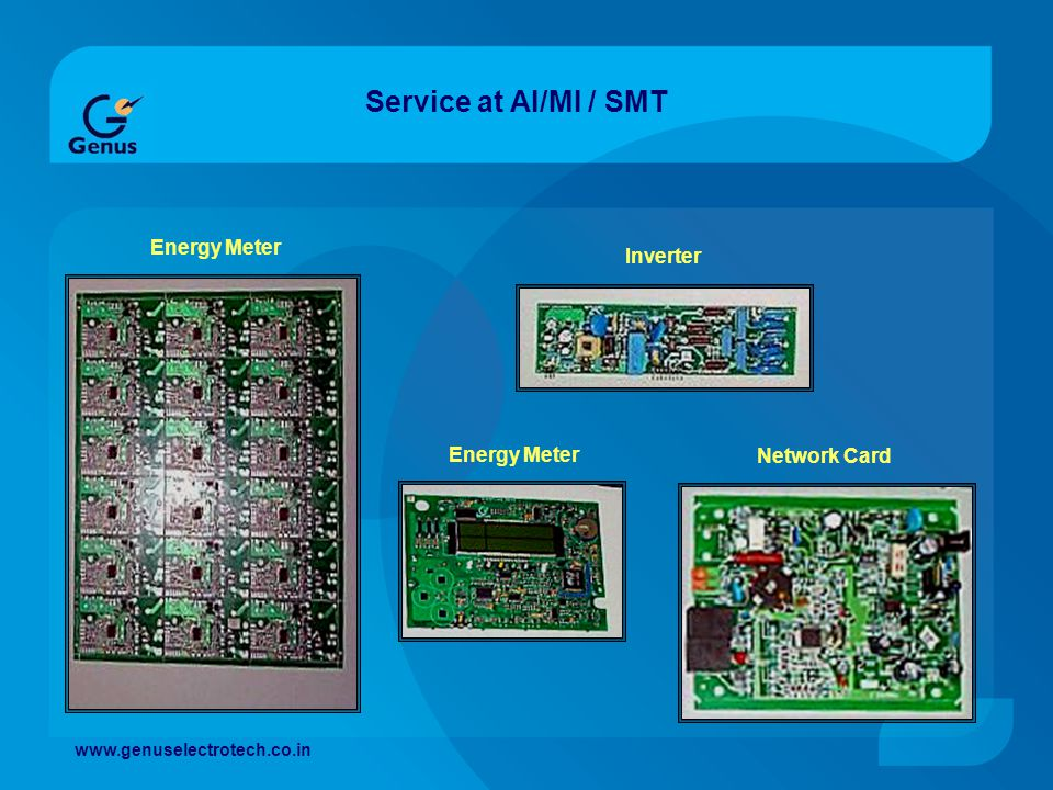 Service at AI/MI / SMT Energy Meter Inverter Energy Meter Network Card