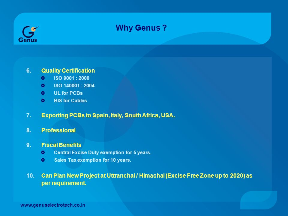 Why Genus Quality Certification