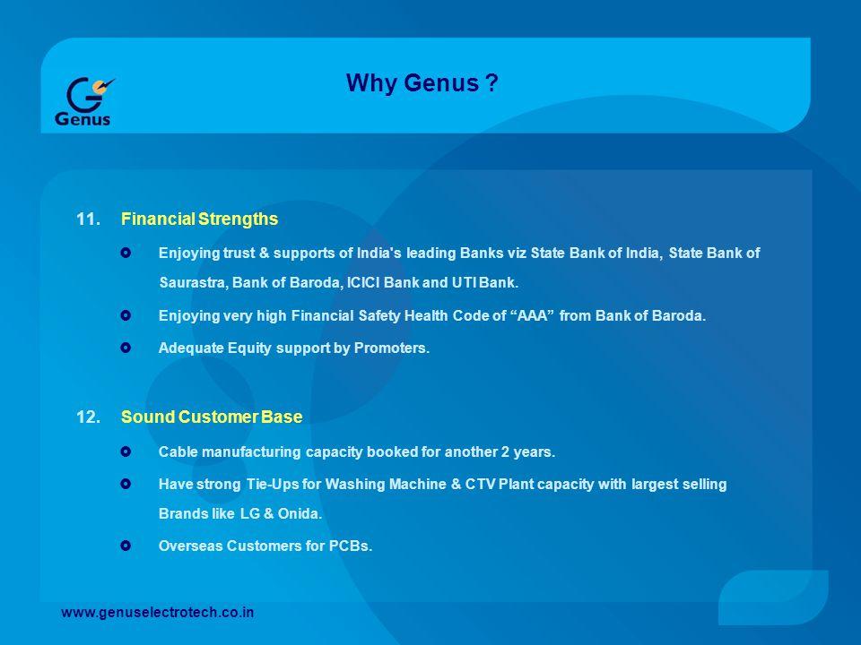 Why Genus Financial Strengths Sound Customer Base