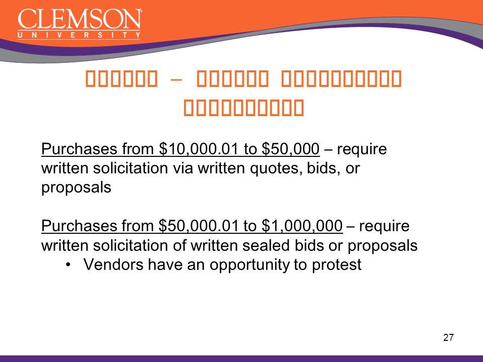 Buying - Dollar Limitation Guidelines