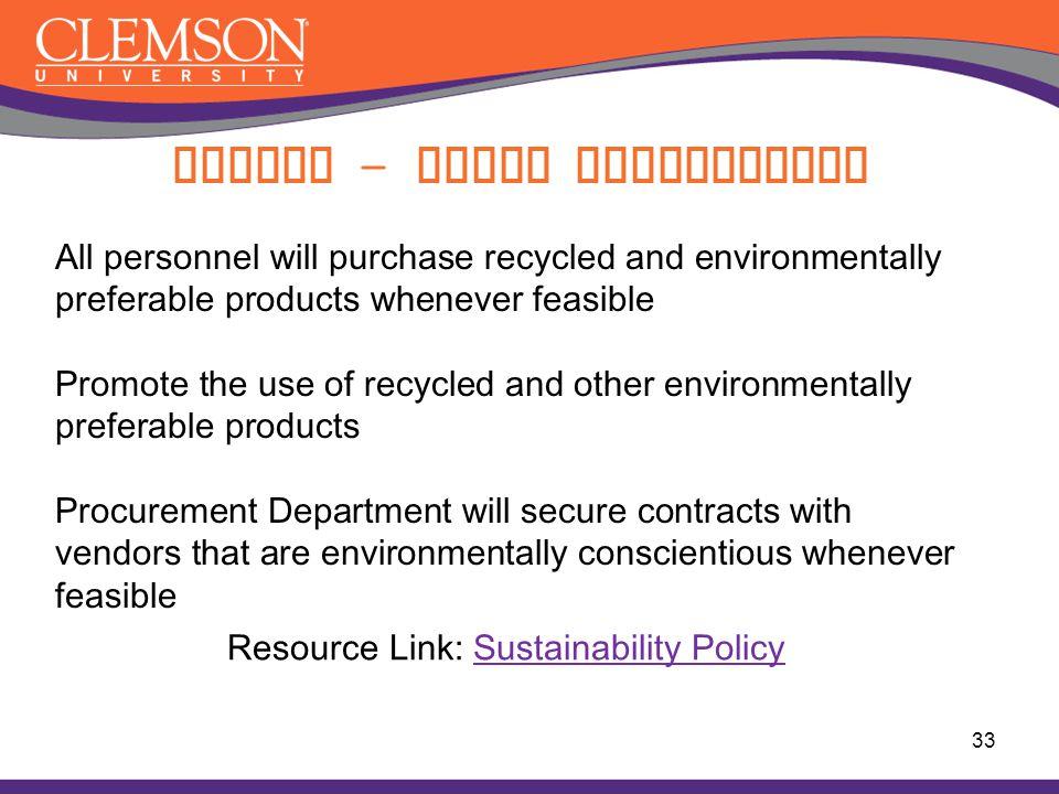 Buying – Green Procurement