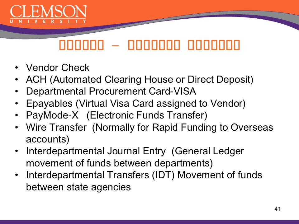 Paying - Payment Methods