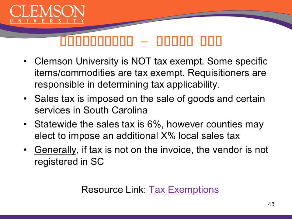 Resource Link: Tax Exemptions