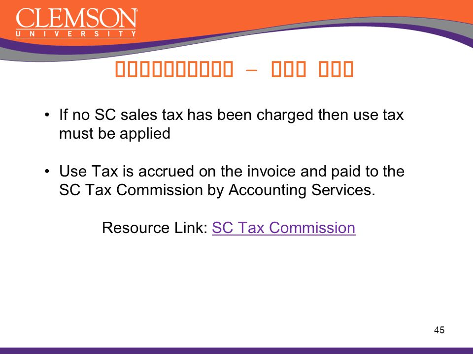 Resource Link: SC Tax Commission