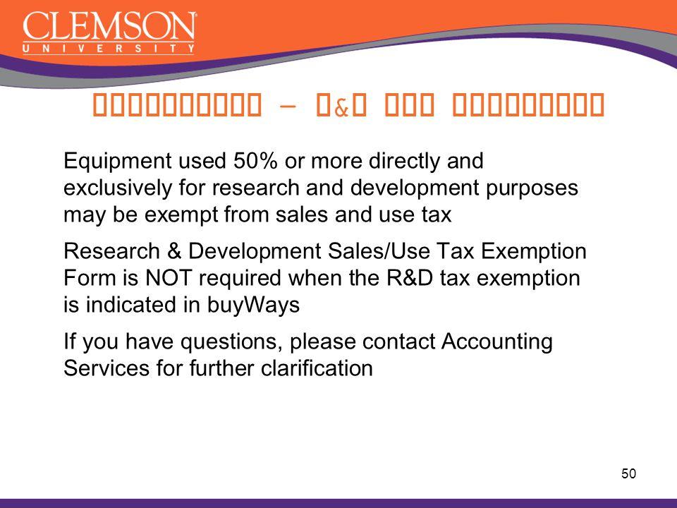 Compliance - R&D Tax Exemption