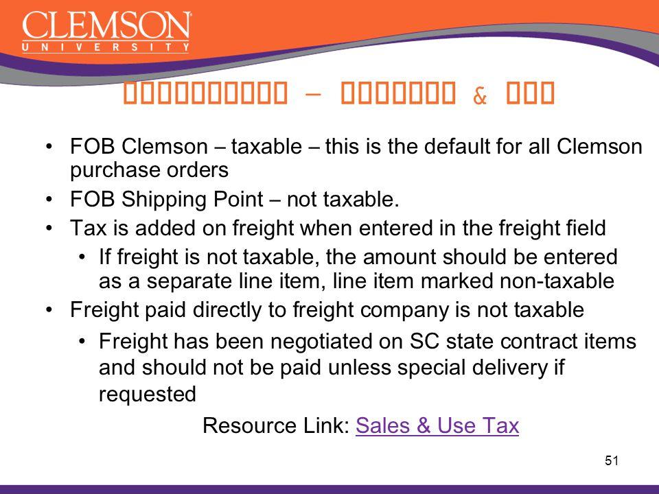 Compliance - Freight & Tax