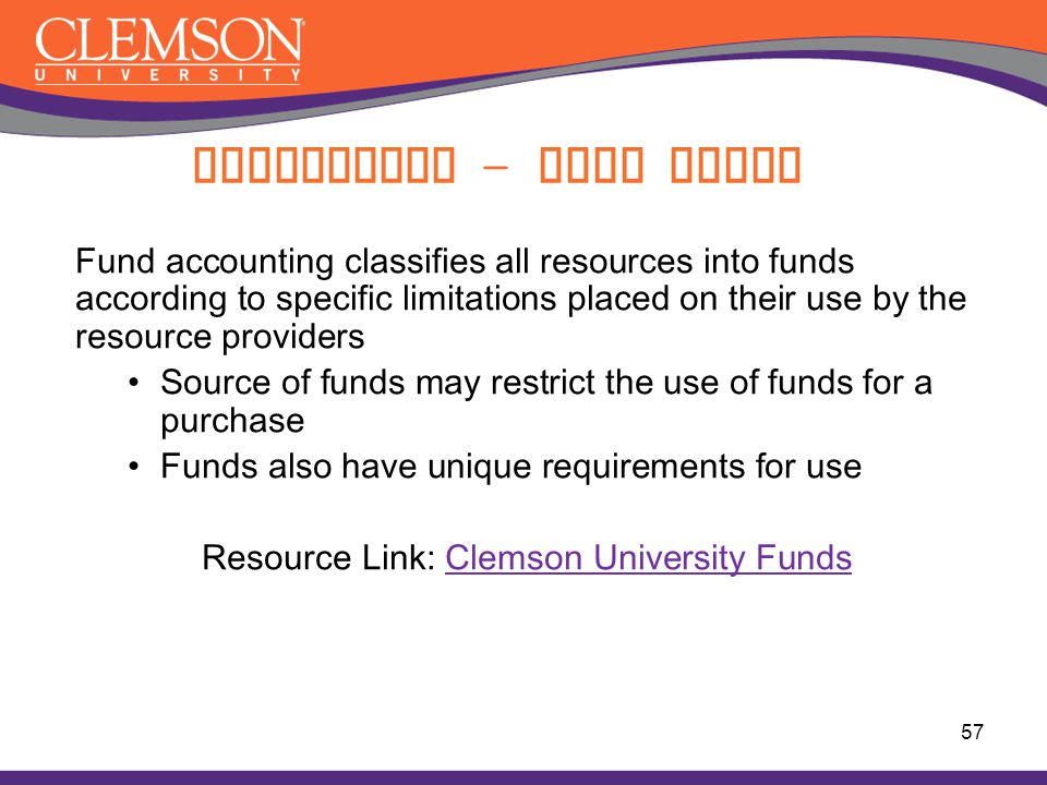 Accounting - Fund Types