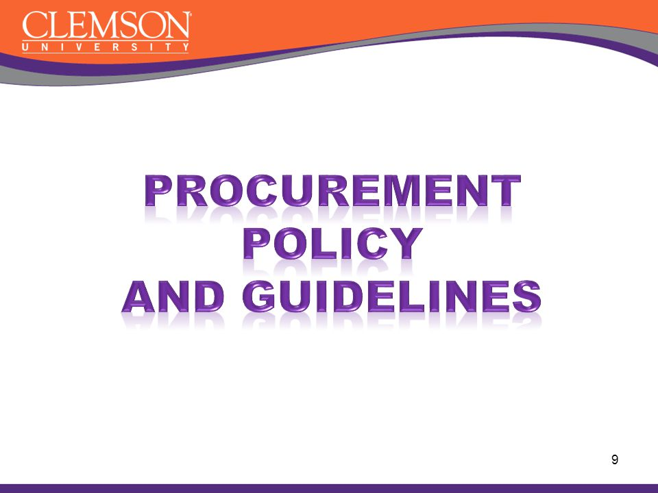 Procurement Policy and Guidelines