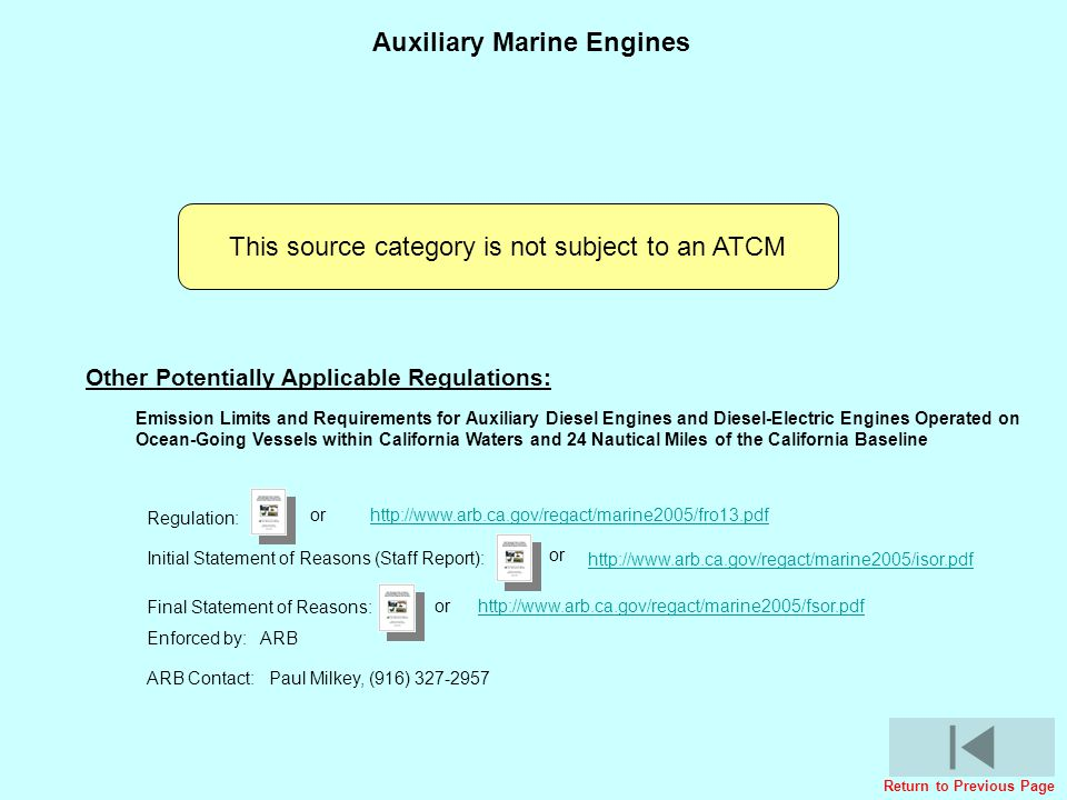 Auxiliary Marine Engines