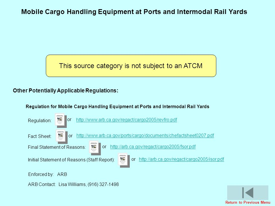 Mobile Cargo Handling Equipment at Ports and Intermodal Rail Yards