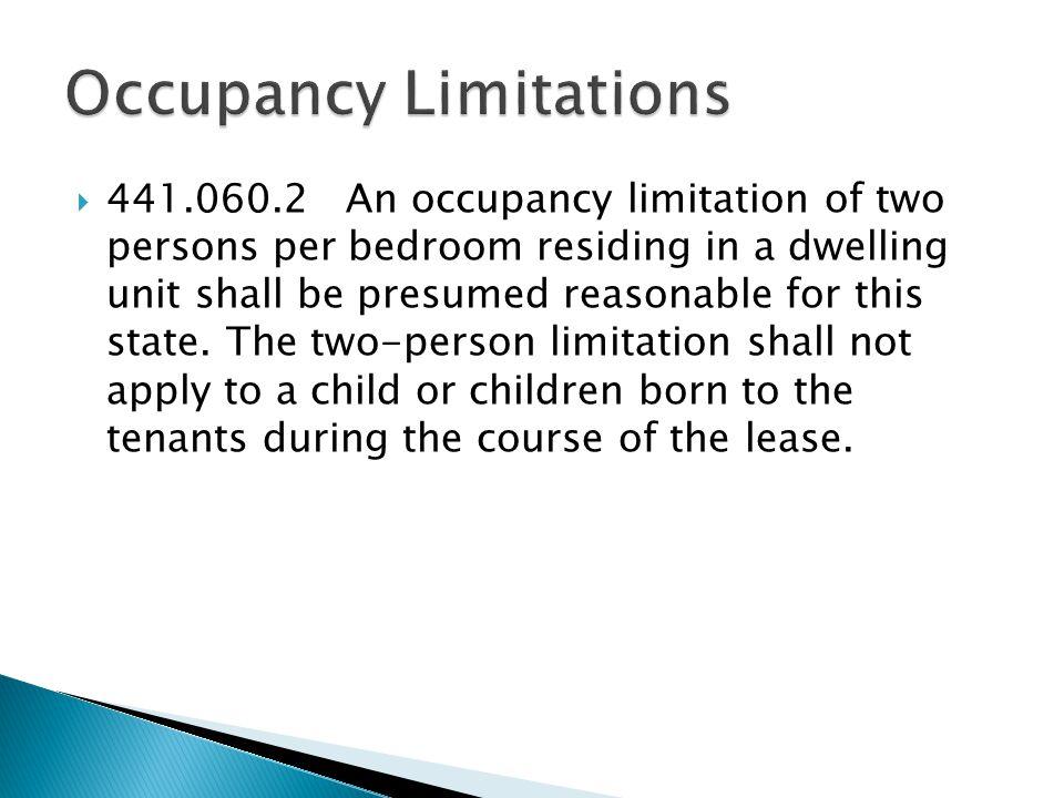 Occupancy Limitations