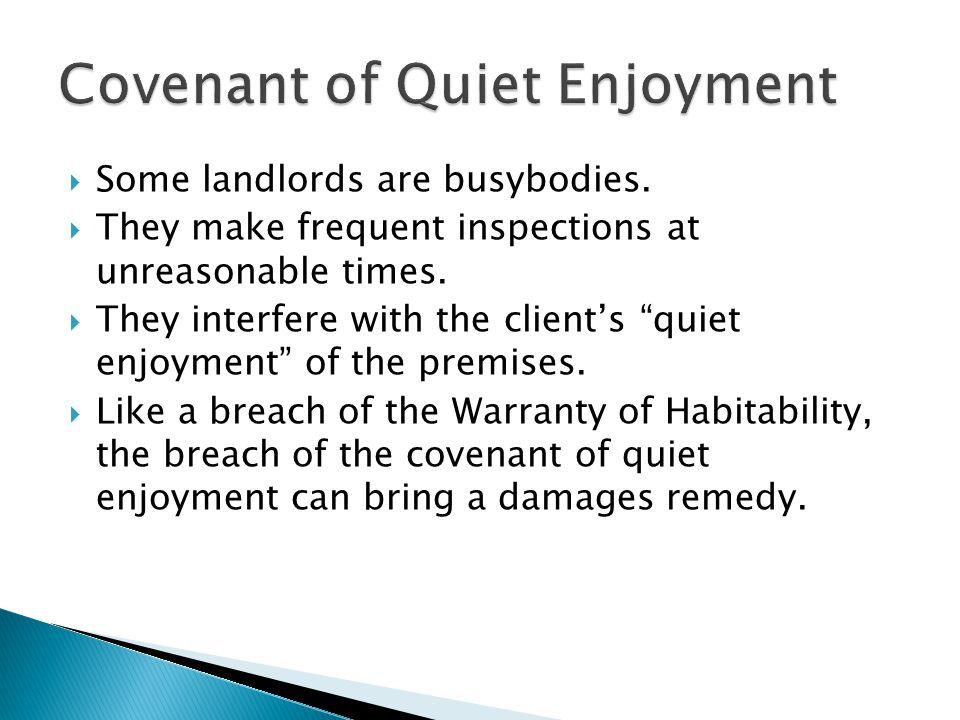 Covenant of Quiet Enjoyment