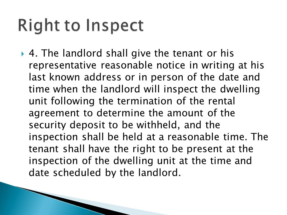 Right to Inspect