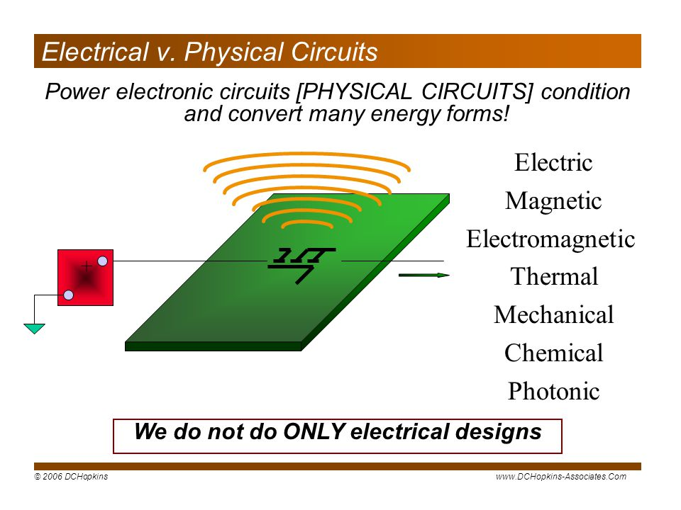 Electrical v. Physical Circuits