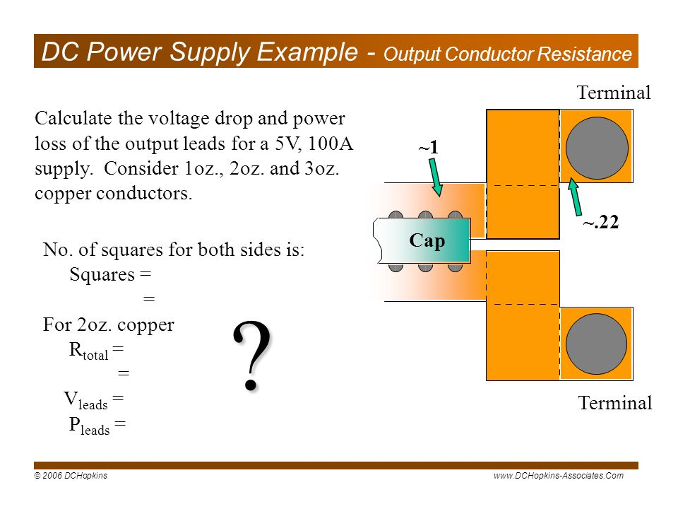 DC Power Supply Example - Output Conductor Resistance