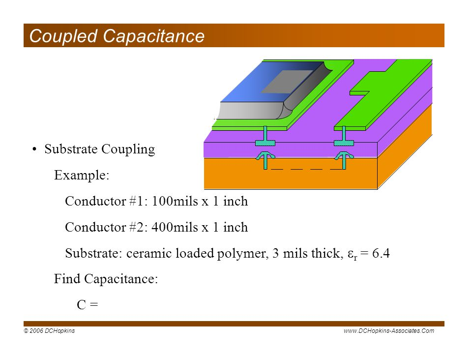 Coupled Capacitance Substrate Coupling Example: