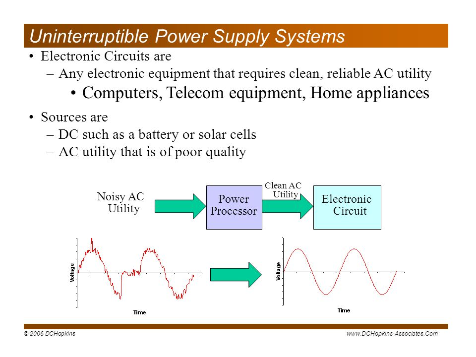 Uninterruptible Power Supply Systems
