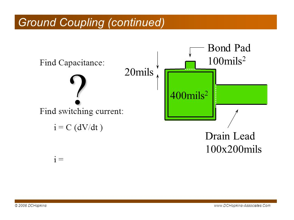 Ground Coupling (continued)