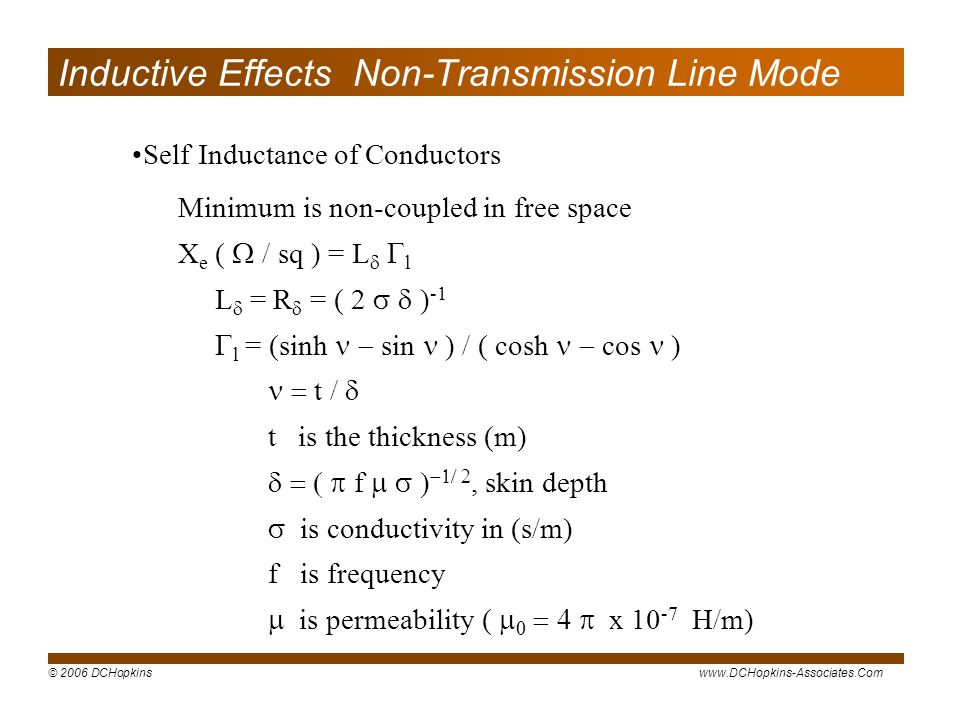 Inductive Effects Non-Transmission Line Mode
